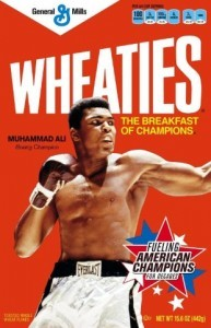Iconic product packaging design, like Muhammad Ali's Wheatie box, appeals to customer's emotions